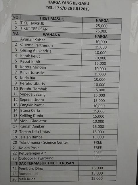 Daftar Tiket